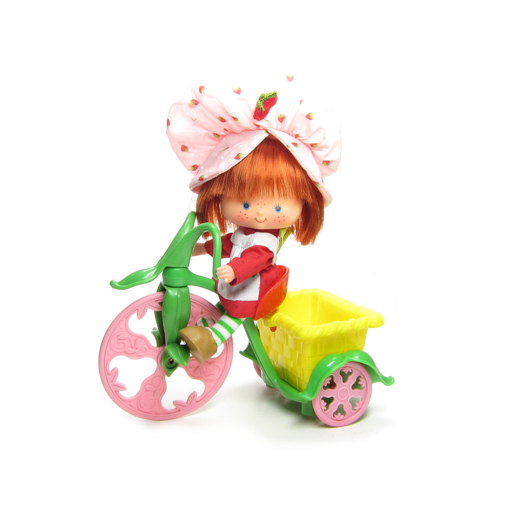 Strawberry Shortcake Tricycle Vintage Berry Cycle Plastic Bike for Dolls