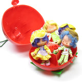 Strawberry Shortcake Carry Case with compartments for dolls