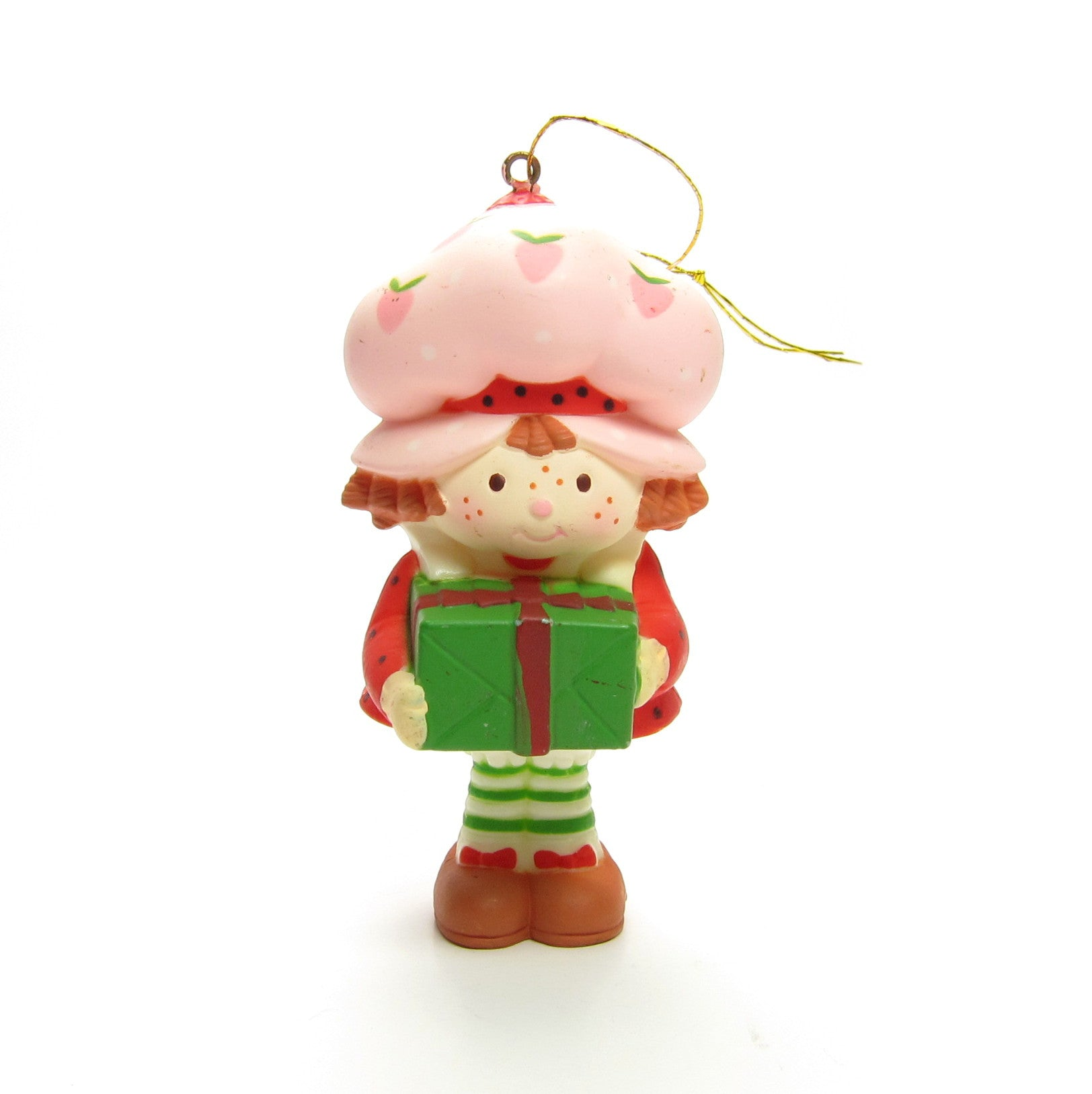 Strawberry Shortcake ornament with present