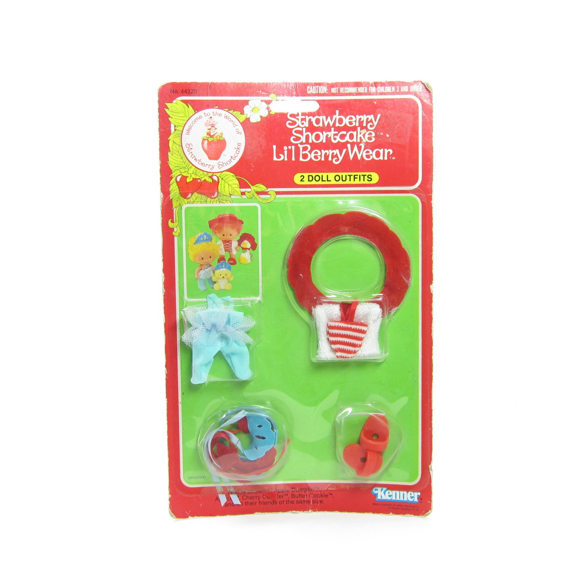 Strawberry Shortcake Berry Wear mint on card outfits