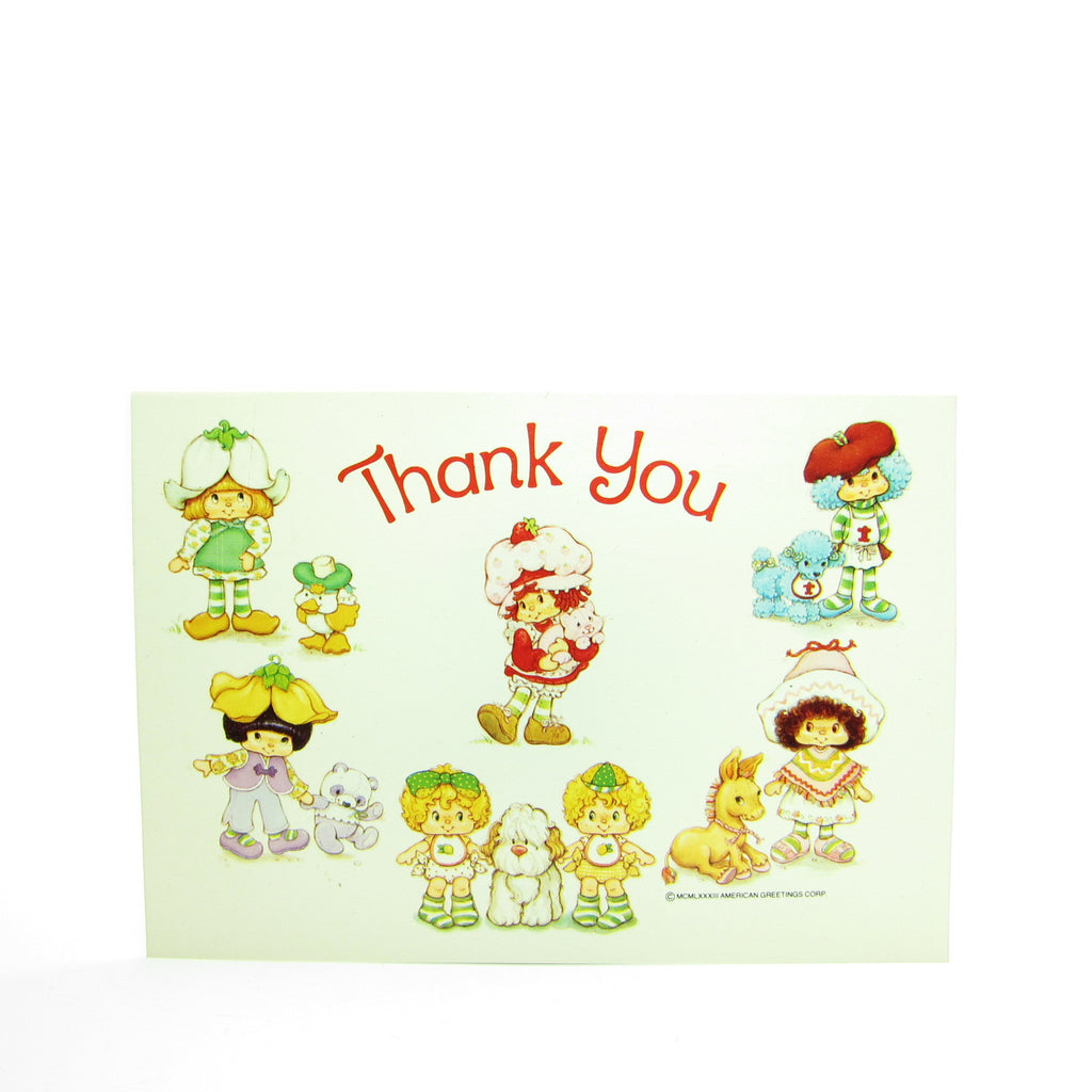 Thank You Postcard with Strawberry Shortcake & her International Friends