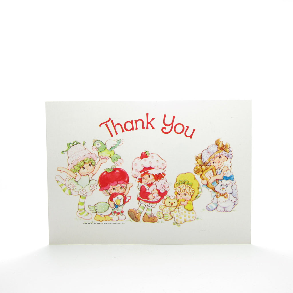 Thank You Postcard with Strawberry Shortcake & Friends