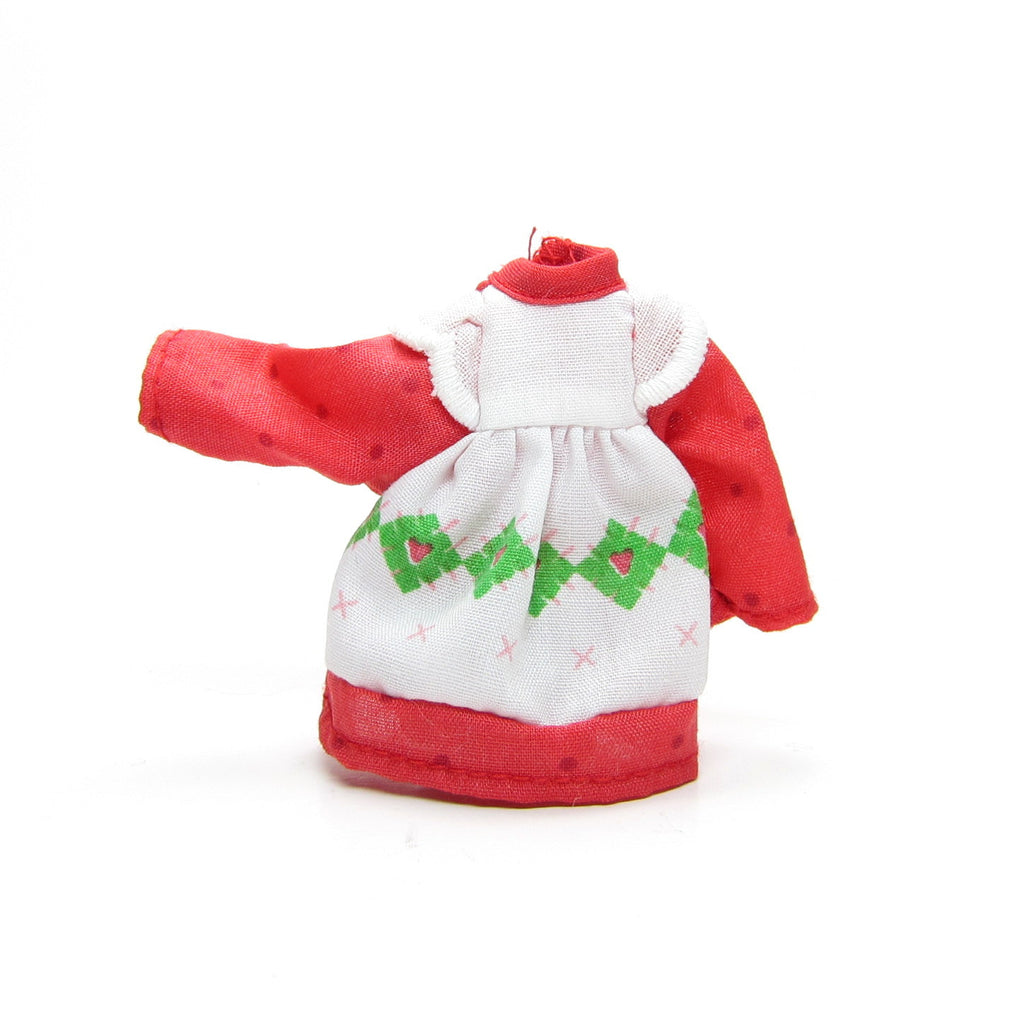 Strawberry Shortcake Dress for 5 1/2-Inch Vintage Doll, Classic Original Outfit