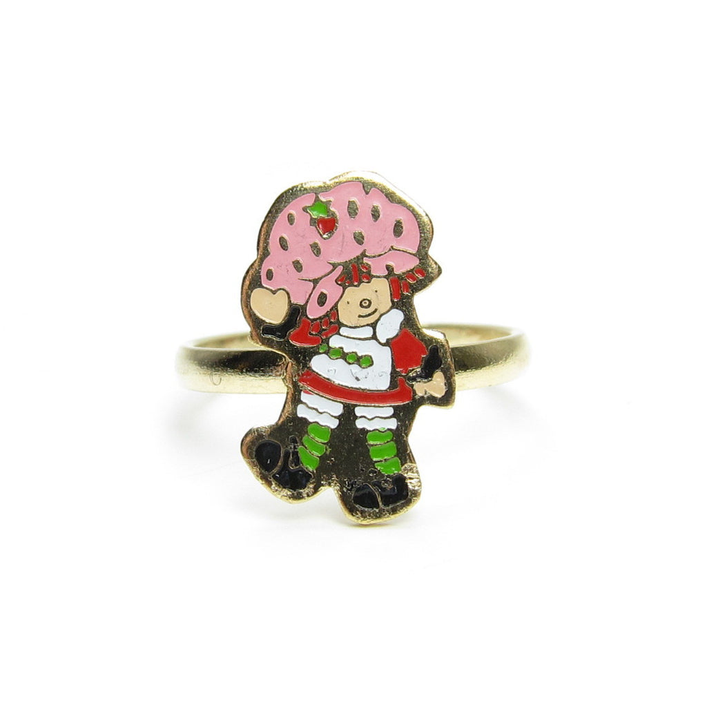 Strawberry Shortcake Ring Gold Vintage Children's Jewelry