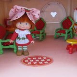 Red rug for Strawberry Shortcake Berry Happy home dollhouse