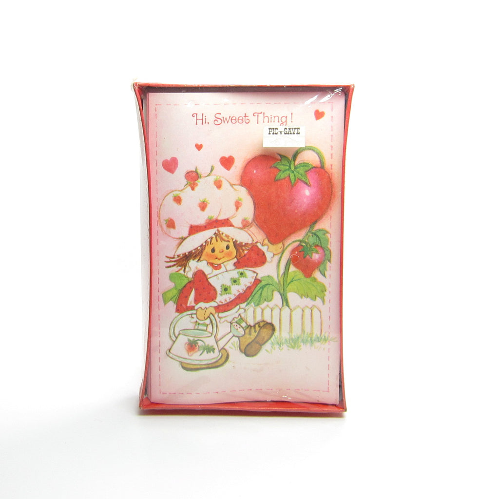 Strawberry Shortcake Valentine's Day Boxed Set of 12 Cards with Envelopes