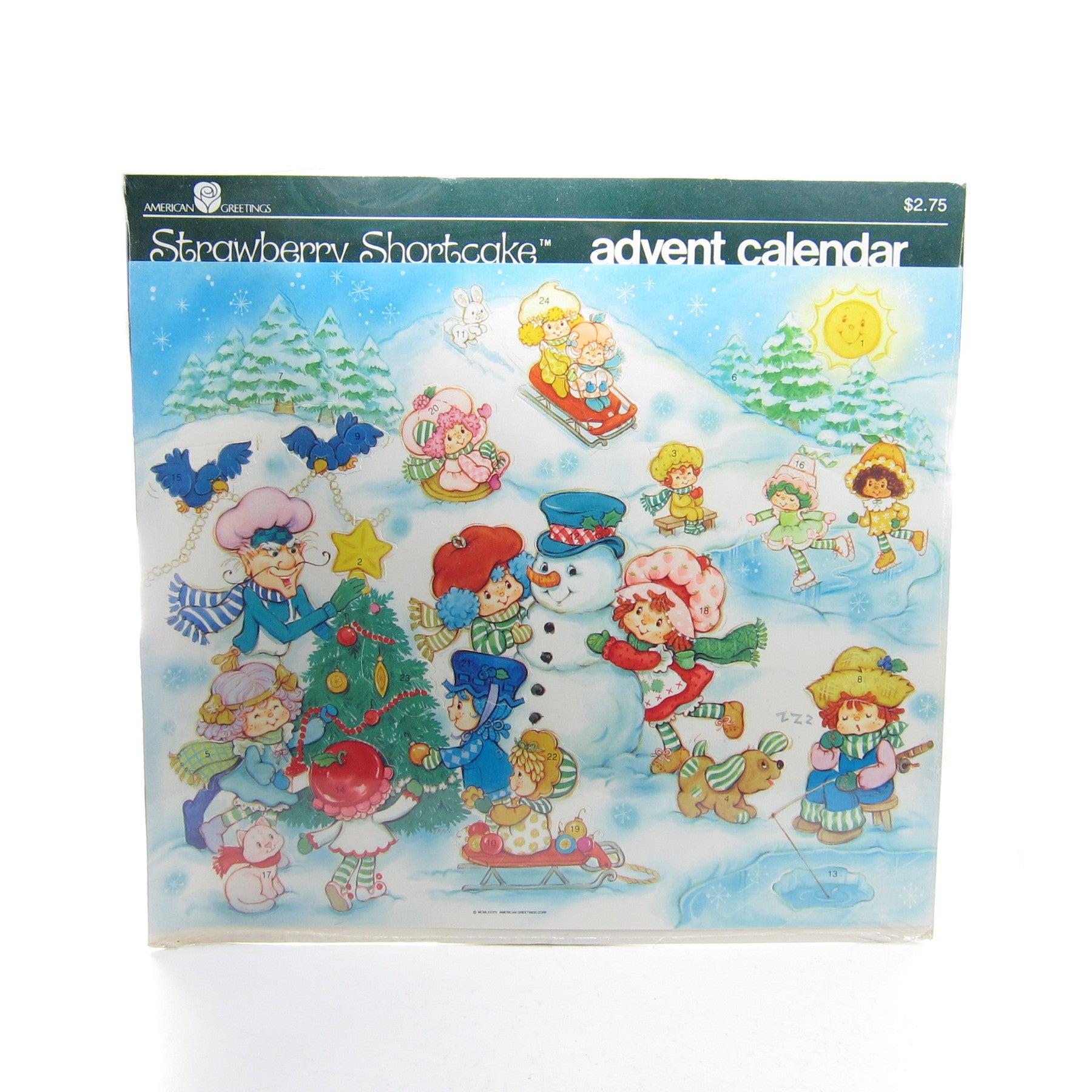 Strawberry Shortcake Christmas 1984 Advent Calendar new in package