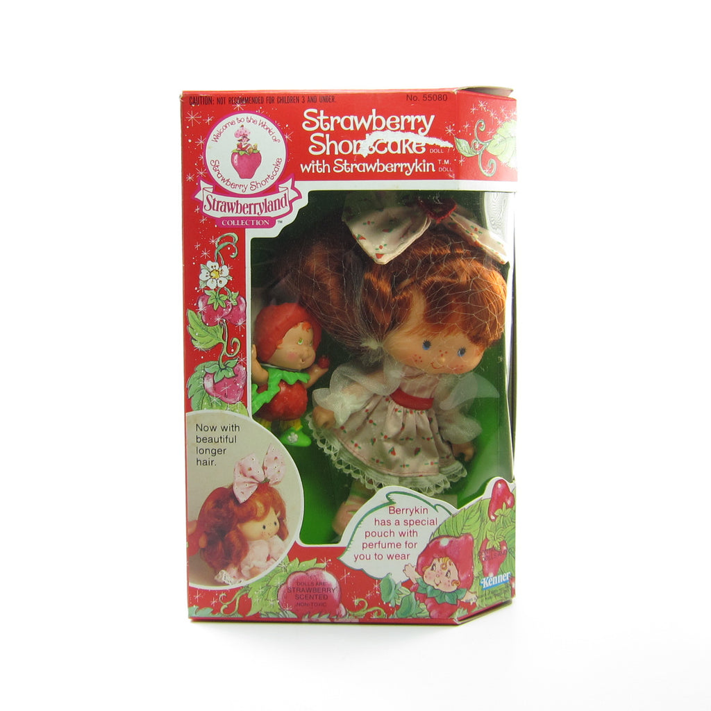 Strawberry Shortcake Berrykin Doll NRFB with Strawberrykin Critter