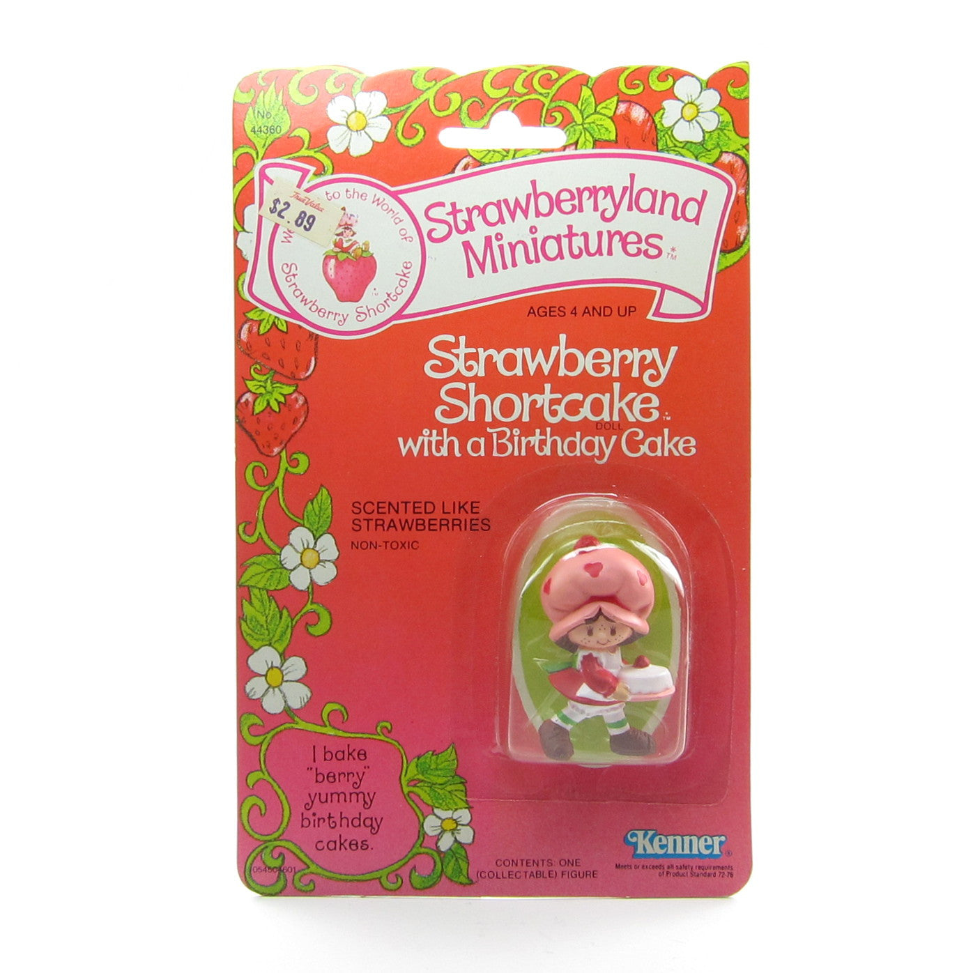 Strawberry Shortcake with a Birthday Cake Mint on Card figurine