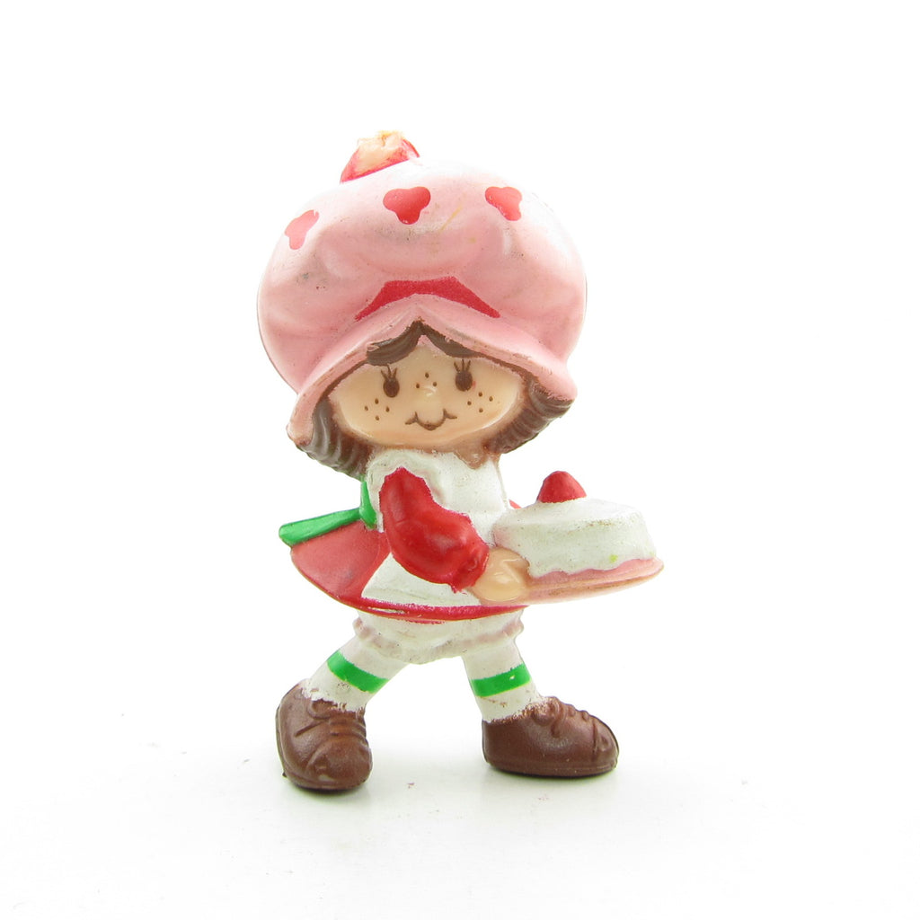 Strawberry Shortcake with a Birthday Cake Miniature Figurine