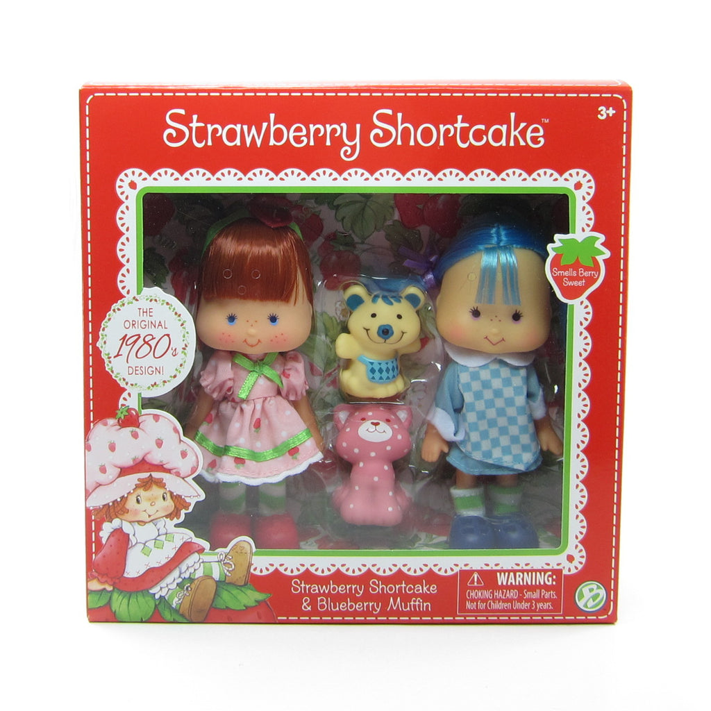 Strawberry Shortcake & Blueberry Muffin Reissue 1980s Design Classic Doll Set