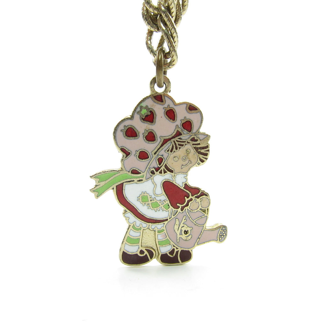 Strawberry Shortcake with a Watering Can Charm Bracelet Gold Chain