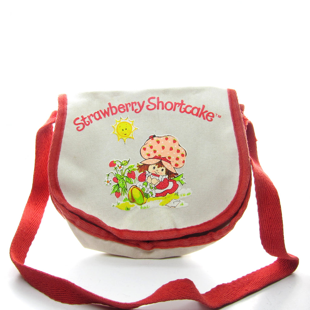 Strawberry Shortcake Purse Vintage Canvas Children's Carry-Alls Shoulder Bag