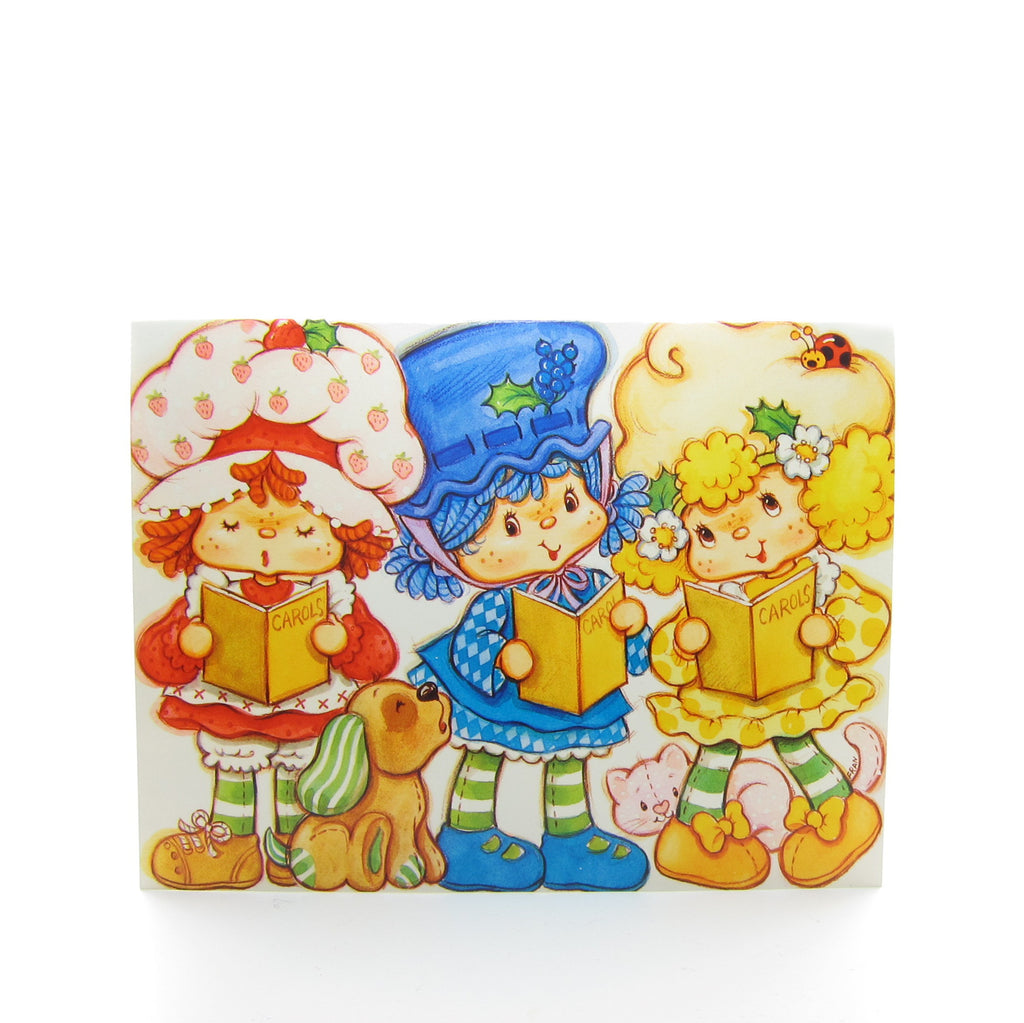 Christmas Carolers Strawberry Shortcake Holiday Greeting Card with Envelope