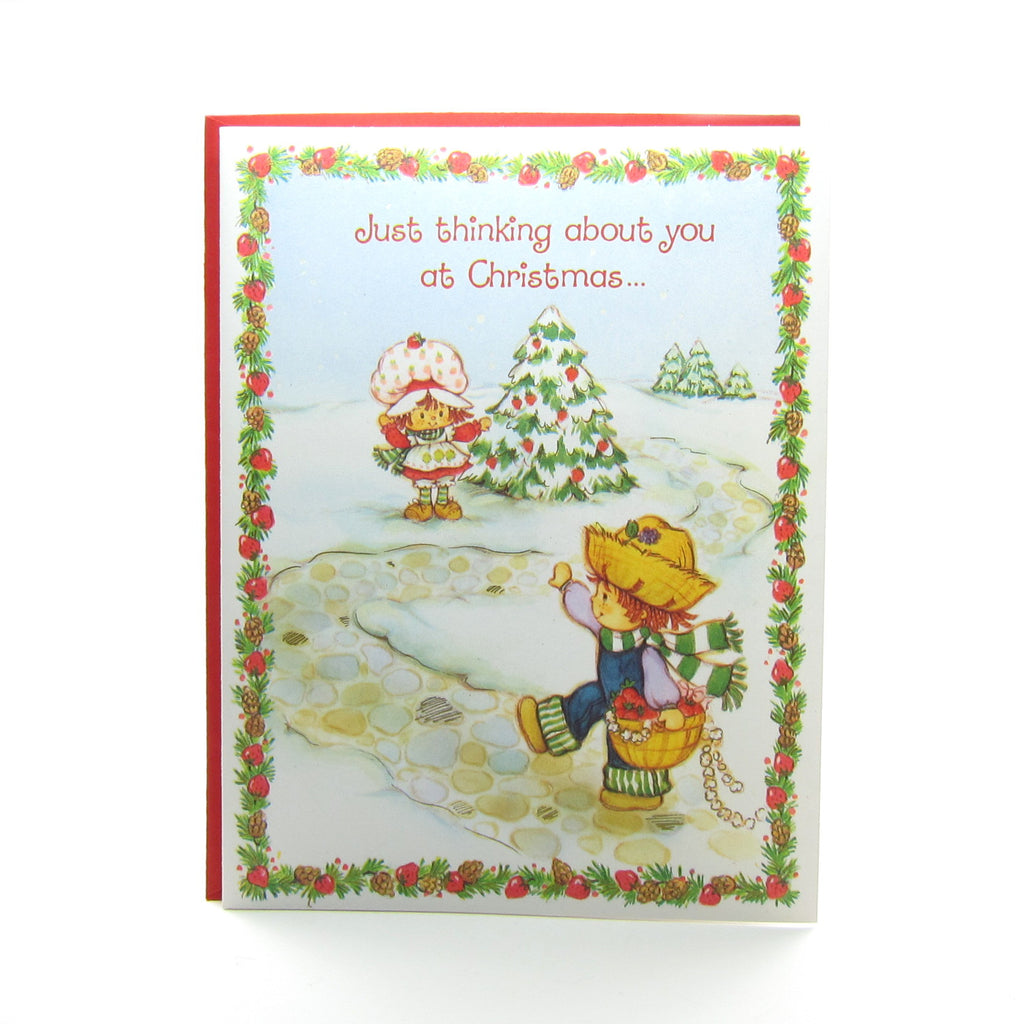 Strawberry Shortcake Christmas Greeting Card with Huckleberry Pie