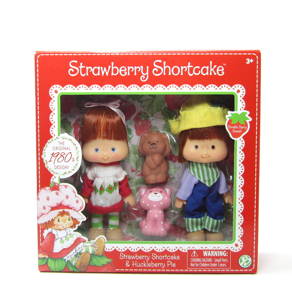 Strawberry Shortcake & Huckleberry Pie Reissue 1980s Design Classic Doll Set