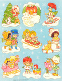 Strawberry Shortcake International Friends Christmas and winter sticker sheet