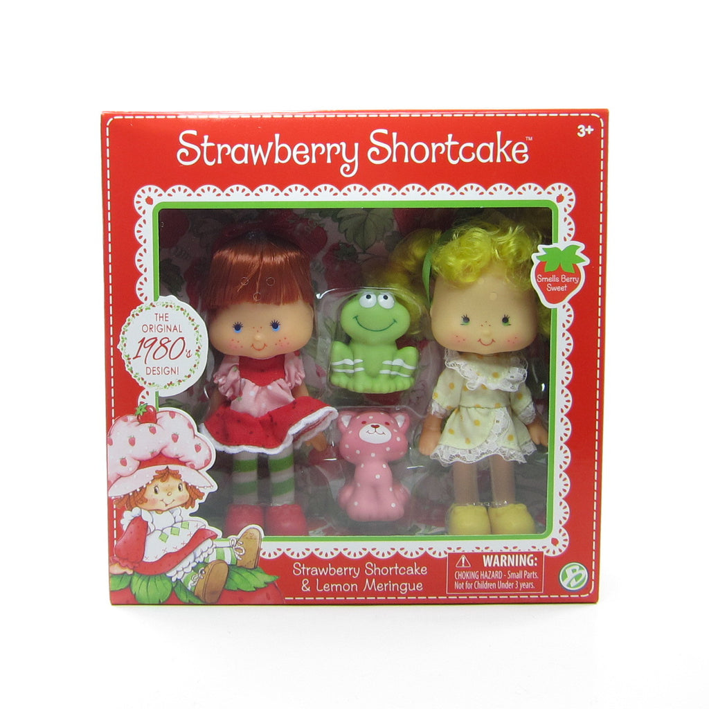 Strawberry Shortcake & Lemon Meringue Reissue 1980s Design Classic Doll Set
