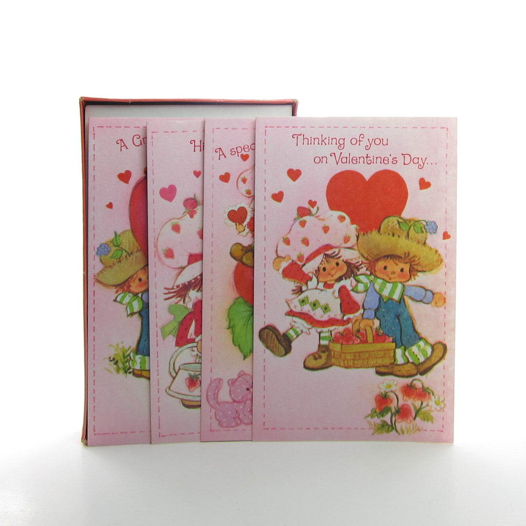 Strawberry Shortcake Valentine's Day Boxed Set of 12 Cards with Envelopes - Opened