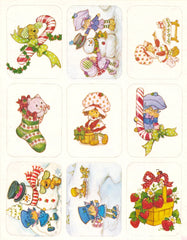 Strawberry Shortcake & Friends Christmas Stickers Vintage Unused Sticker Sheet