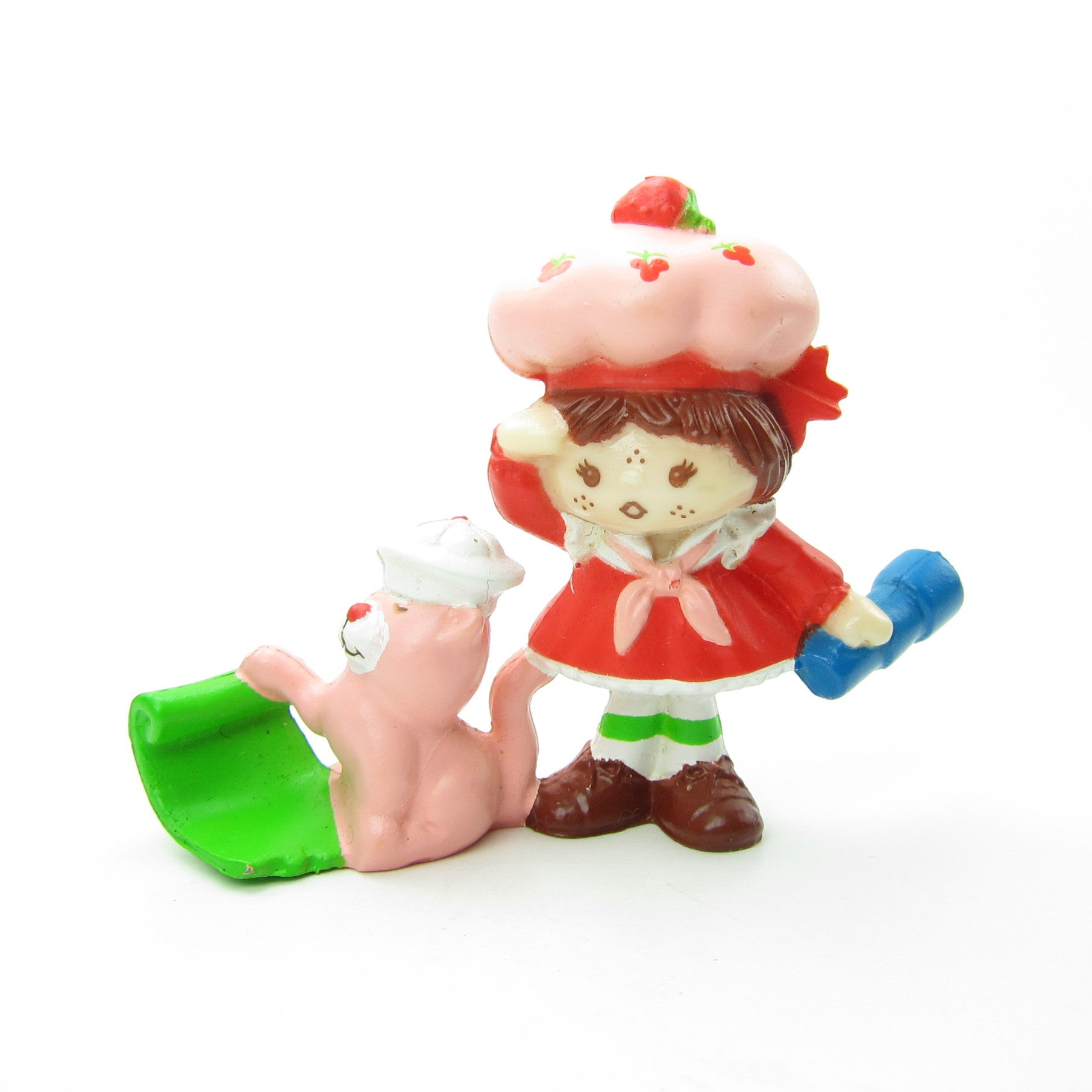 Strawberry Shortcake with Custard on a Sailboat miniature figurine
