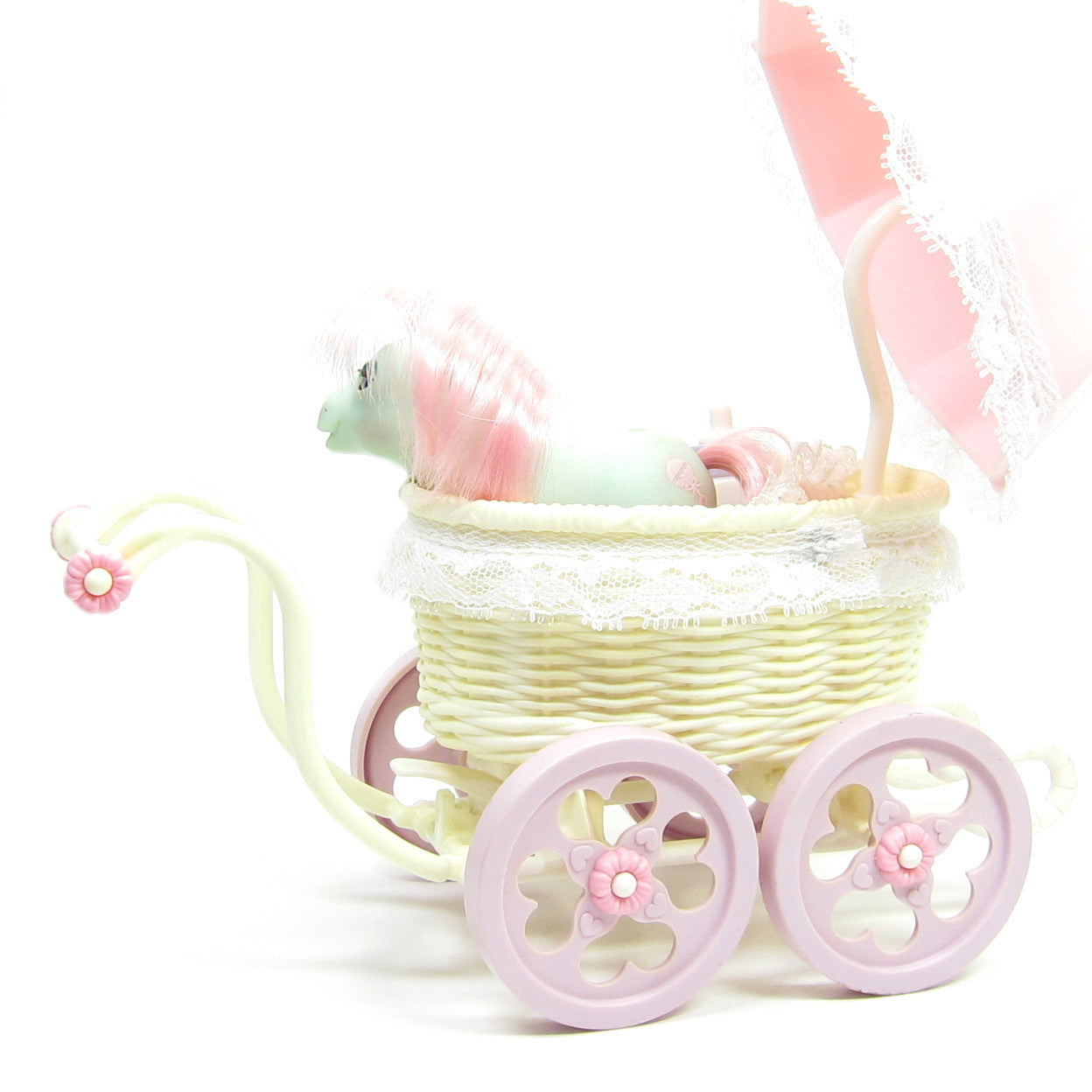 Baby Buggy Playset My Little Pony G1 Toy With Baby Cuddles