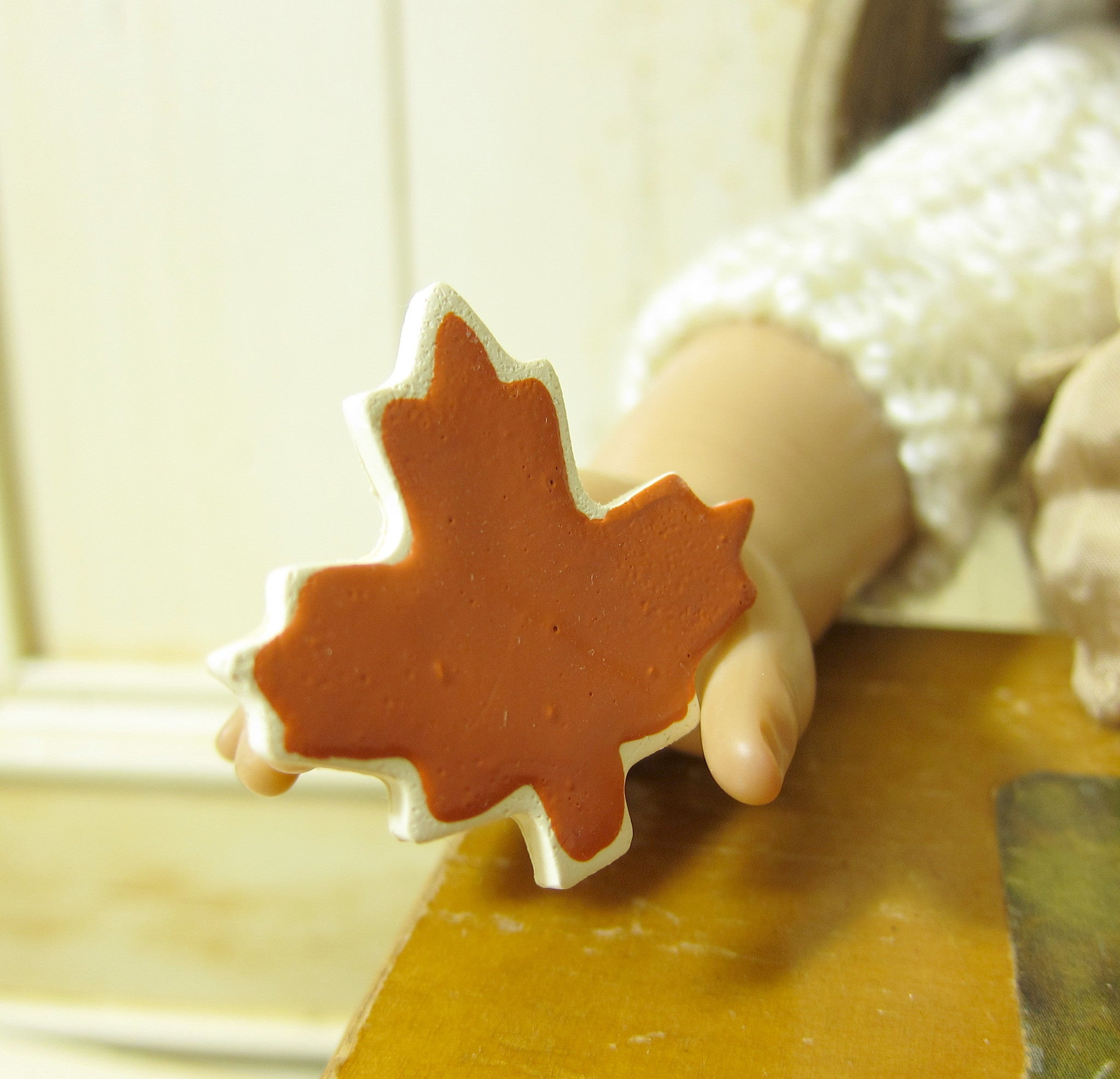 Maple leaf cookie for 18 inch dolls