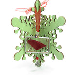 Christmas tree ornament with red fairy wing