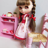 Handmade strawberry dress for Blythe doll