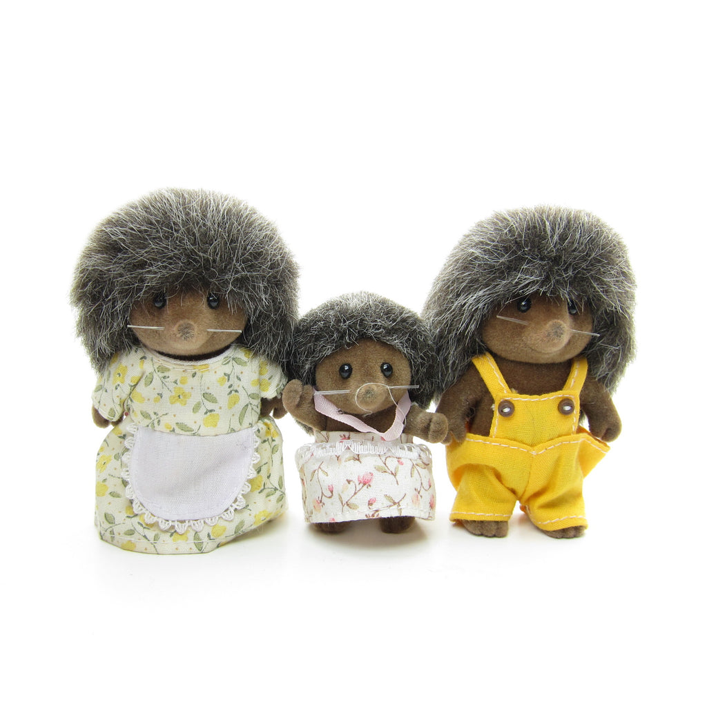 Bramble Hedgehog Family Vintage Sylvanian Families Hedgehogs