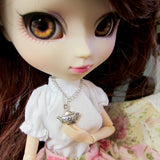 Tea pot necklace for Blythe, Pullip, or playscale dolls