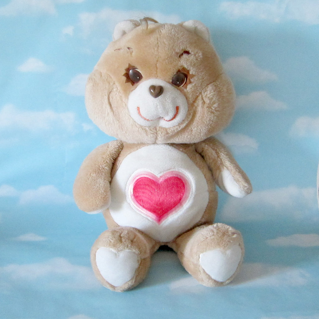 "Tenderheart Bear Plush Vintage 17"" Care Bears Stuffed Animal"
