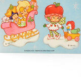Vintage 1984 Strawberry Shortcake Christmas stickers
