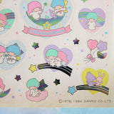 Vintage 1984 unused Little Twin Stars sticker sheet