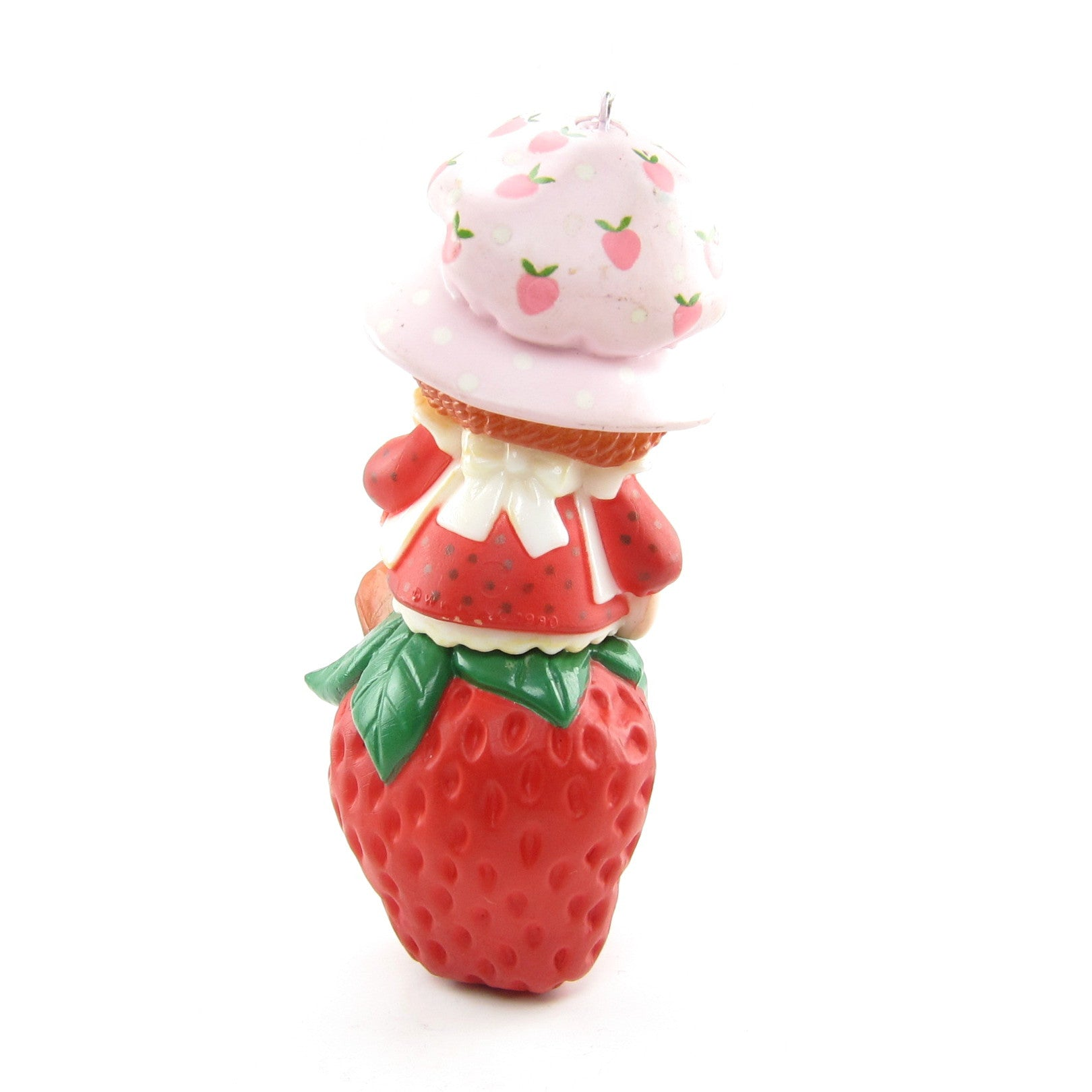 Strawberry christmas ornaments - Strawberry Shortcake Ornament Vintage Christmas Tree Decoration With Candy Cane