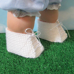 Cabbage Patch Kids plastic canvas baby doll shoes