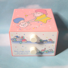 Vintage Little Twin Stars 2 Drawer trinket box