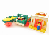 Play Family Camper with boat, truck, and picnic table