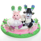 Bride and Groom Tea Bunnies wedding gazebo playset