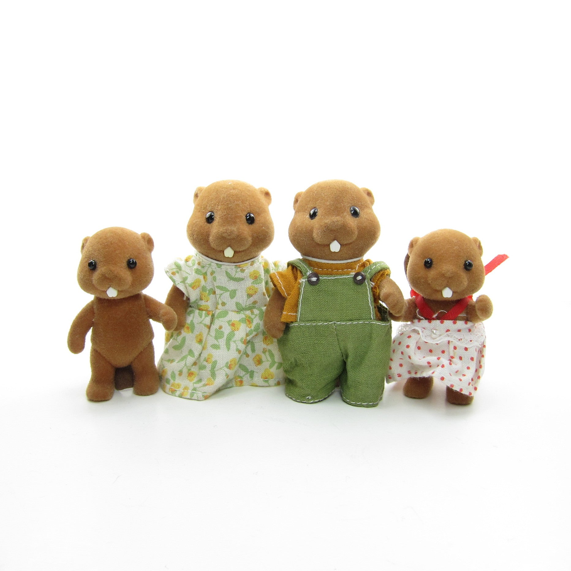 Sylvanian Families Waters Beaver Mother, Father, Brother and Sister
