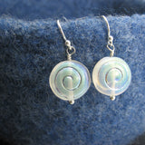 Moon Earrings Sterling Silver Spiral Moon Beads