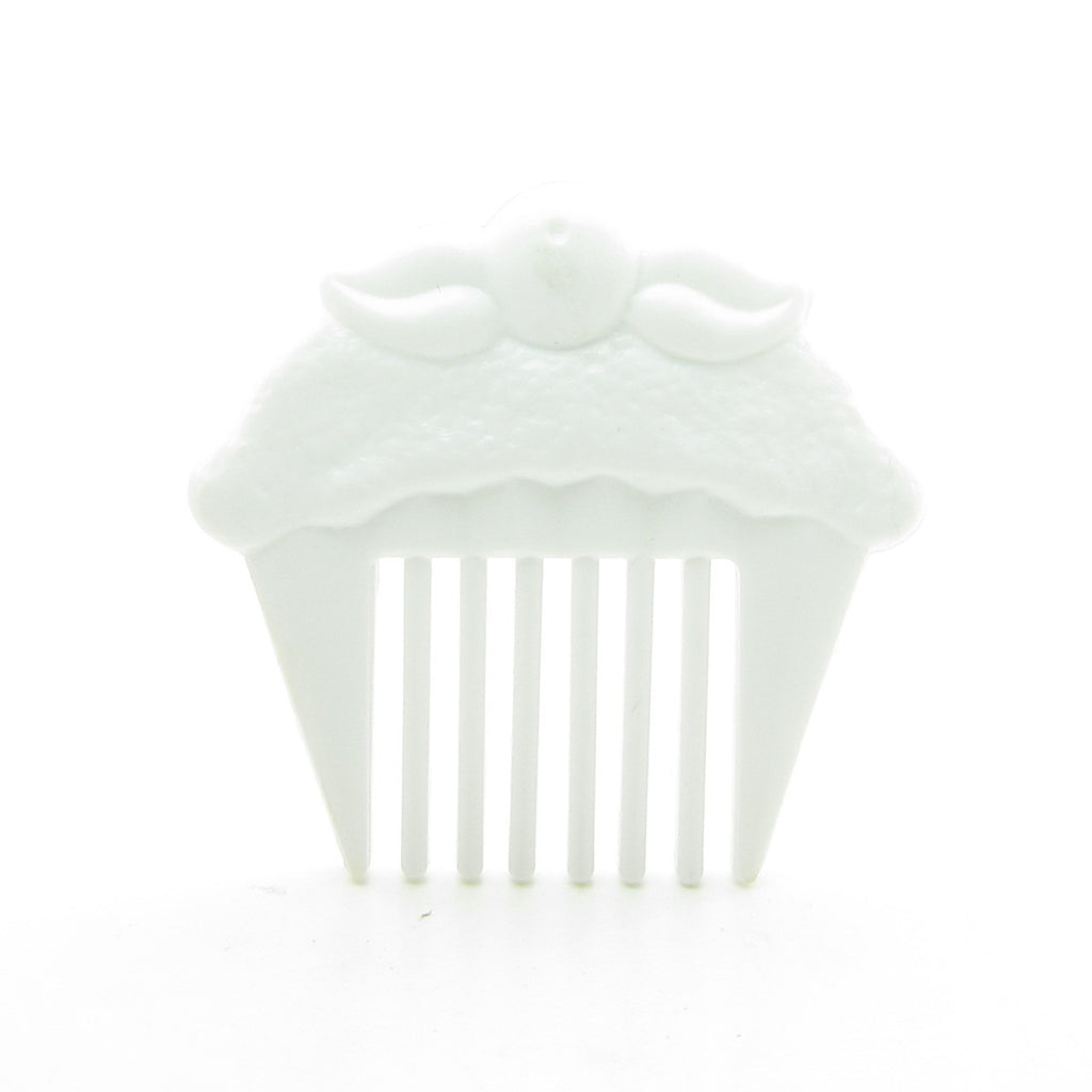 White Cupcake Comb for Cherry Merry Muffin Dolls
