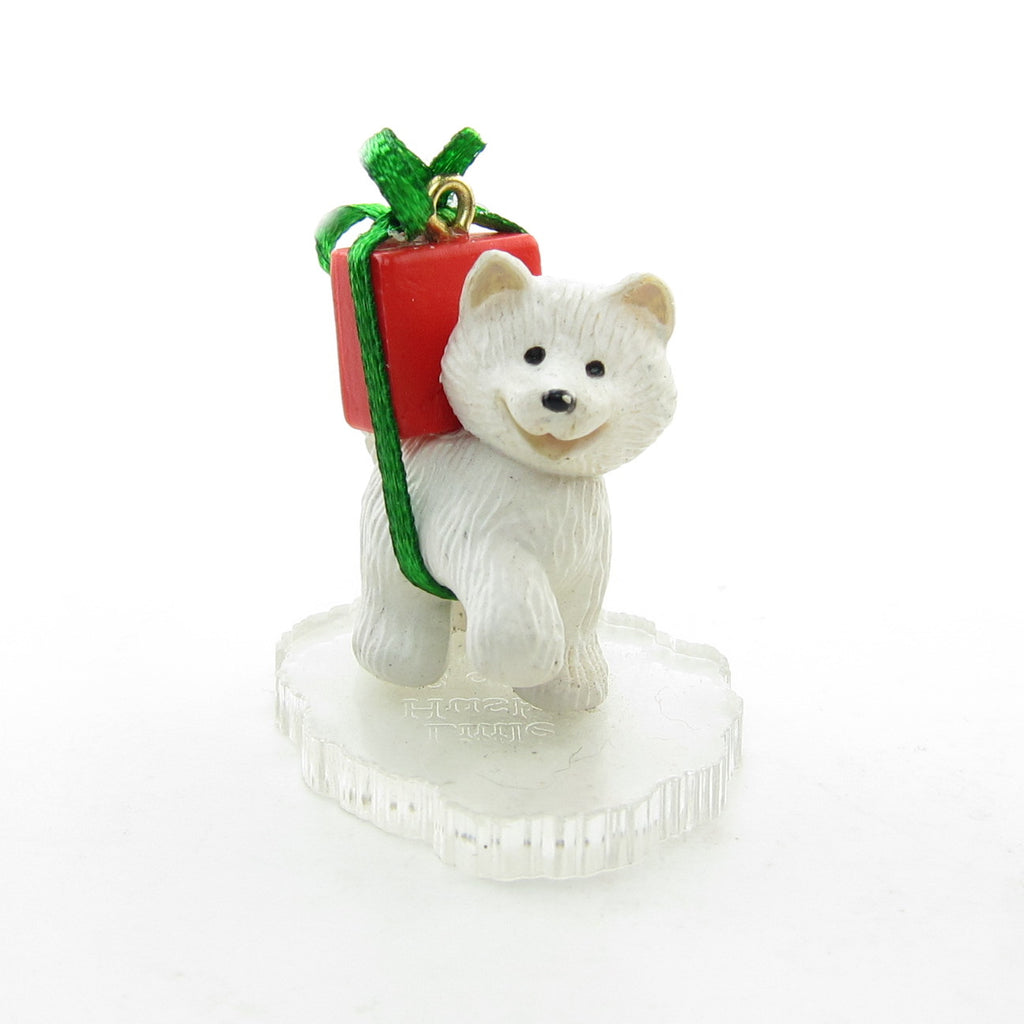 Little Husky Frosty Friends Vintage 1990 Miniature Hallmark Ornament