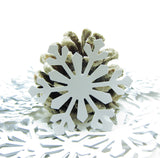 White paper snowflakes for weddings scrapbooking