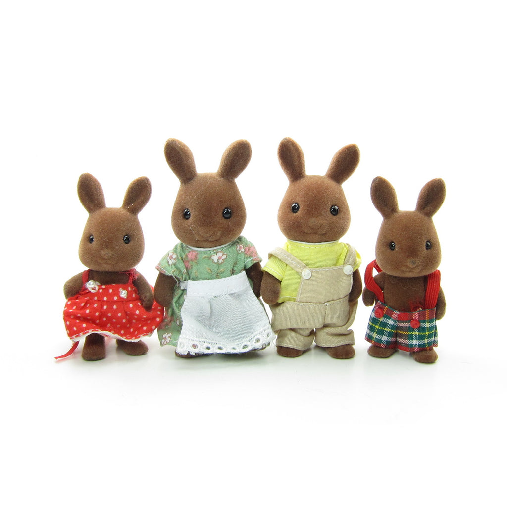 Wildwood Brown Rabbit Family Vintage Sylvanian Families Bunnies