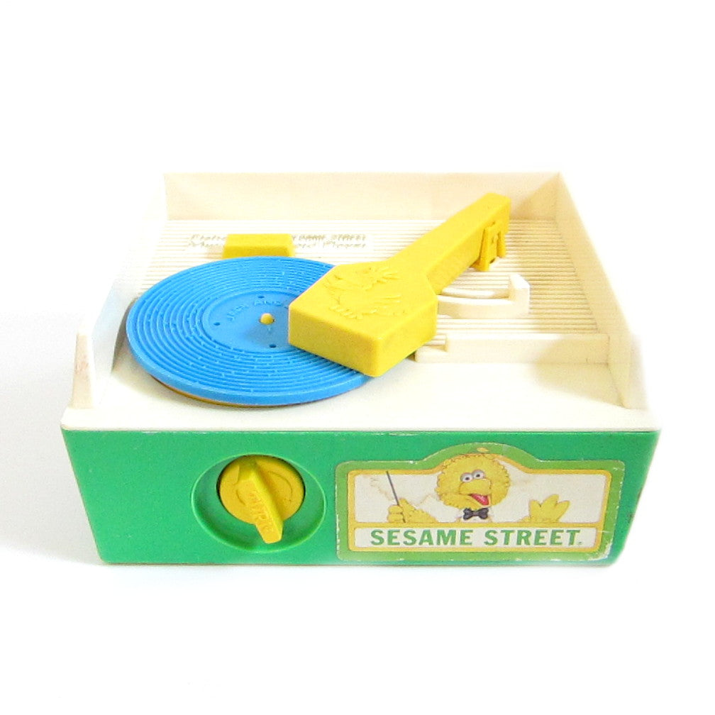 Record Player Toy 1984 Sesame Street Vintage Fisher-Price Wind-Up Music Box