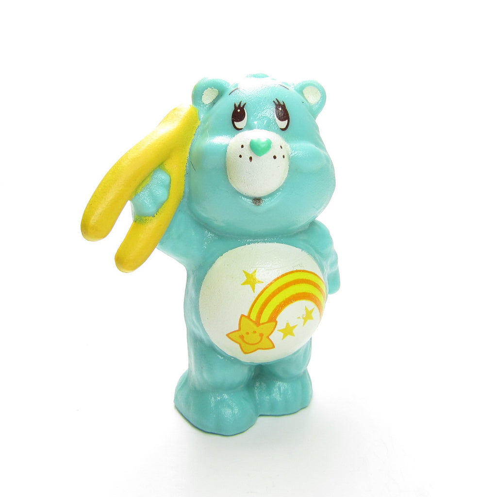 Wish Bear Holding a Wishbone Vintage Care Bears Miniature Figurine