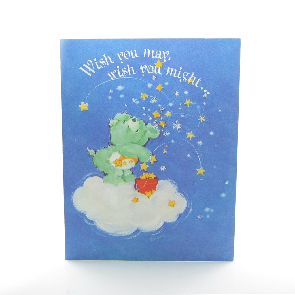 Wish Bear Season's Greetings Care Bears Christmas Card