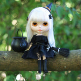 Halloween witch costume for Blythe or Pullip dolls