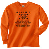 Goddess Artemis Hunter's Long Sleeve Tee